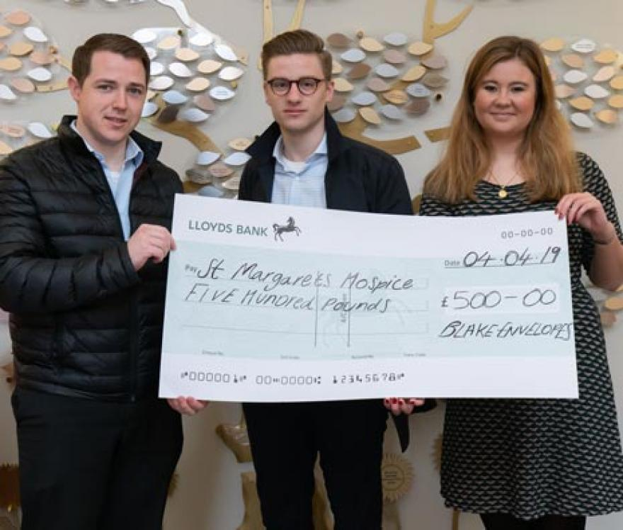 Charitable Donation to St Margaret's Hospice