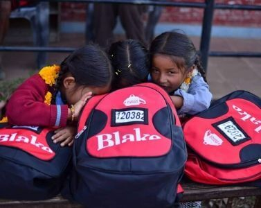 Donating SchoolBags in Nepal
