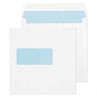 Square Wallet Gummed Window White 165x165 100gsm Envelopes