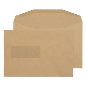 Mailer Gummed Window Manilla C5+ 162x238 80gsm Envelopes