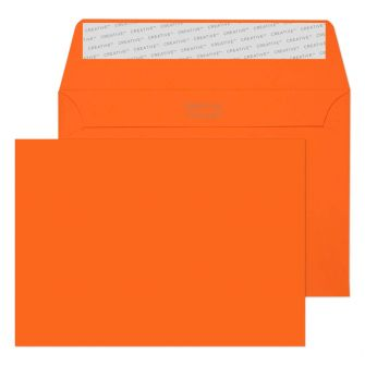 Wallet Peel and Seal Pumpkin Orange C6 114x162 120gsm Envelopes