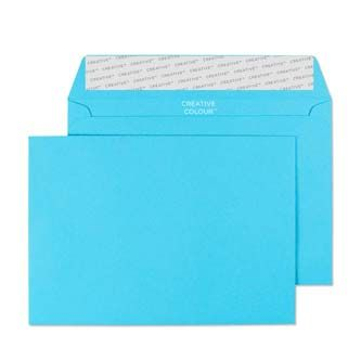 Wallet Peel and Seal Cocktail Blue C6 114x162 120gsm Envelopes