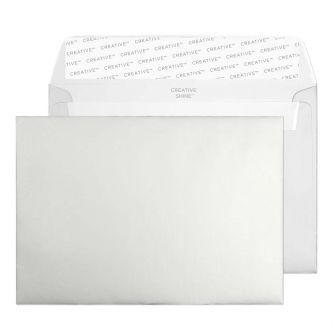 Wallet Peel and Seal Metallic Silver C6 114x162 130gsm Envelopes
