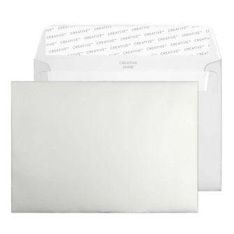 Wallet Peel and Seal Metallic Silver C6 114x162 120gsm Envelopes