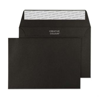 Wallet Peel and Seal Jet Black C6 114x162 120gsm Envelopes