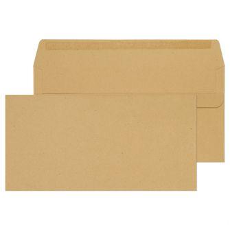 Wallet Self Seal Manilla DL 110x220 80gsm Envelopes