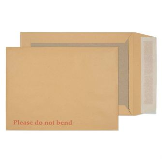 Board Back Pocket Peel and Seal Manilla 241x178 120gsm