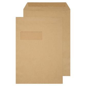 Pocket Gummed Window Manilla C4 324x229 90gsm Envelopes