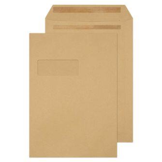 Pocket Self Seal Window Manilla C4 324x229 115gsm Envelopes
