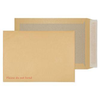 Board Back Pocket Peel and Seal Manilla C4 324x229 120gsm Pk20