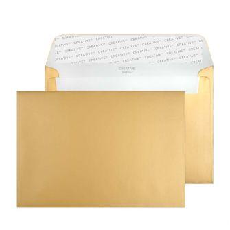 Wallet Peel and Seal Metallic Gold C6 114x162 120gsm Envelopes