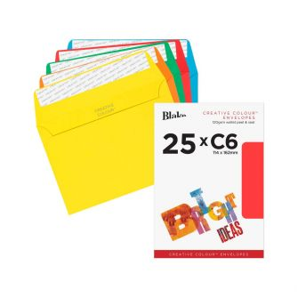 Wallet Peel and Seal Assorted C6 114x162 120gsm Envelopes