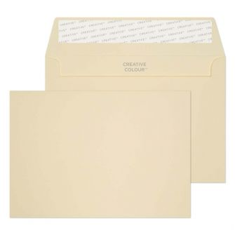 Wallet Peel and Seal Clotted Cream C6 114x162 120gsm Envelopes