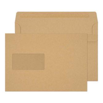 Wallet Self Seal Window Manilla C5 162x229 90gsm Envelopes
