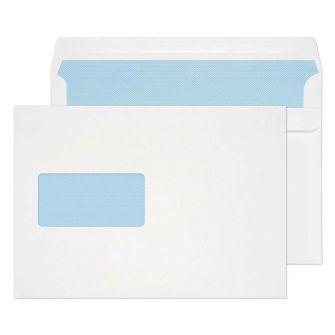 Wallet Self Seal Window White C5 162x229 90gsm Envelopes