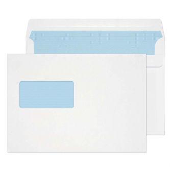 Wallet Self Seal High Window White C5 162x229 90gsm Envelopes