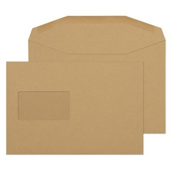 Mailer Gummed Manilla CBC Window C5 162x229 80gsm Envelopes