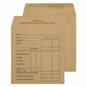 Wage Envelope Printed Self Seal Manilla 108x102 80gsm