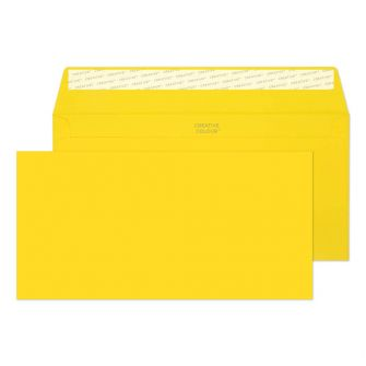 Wallet Peel and Seal Banana Yellow DL+ 114x229 120gsm Envelopes