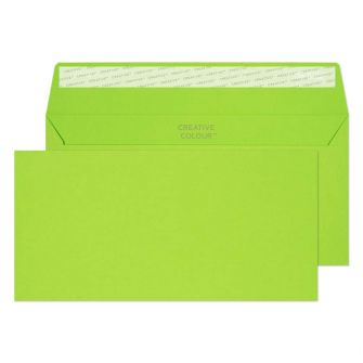 Wallet Peel and Seal Lime Green DL+ 114x229 120gsm Envelopes