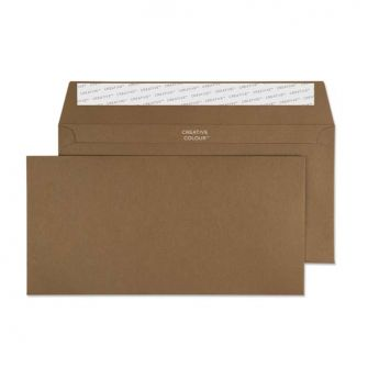 Wallet Peel and Seal Milk Chocolate DL+ 114x229 120gsm Envelopes