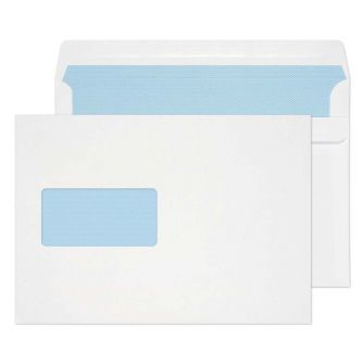 Wallet Self Seal Window White C5 162x229 100gsm Envelopes
