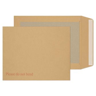 Board Back Pocket Peel and Seal Manilla 267x216 120gsm