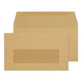 Wallet Gummed Window Manilla 89x152 70gsm Envelopes