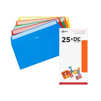Wallet Peel and Seal Assorted DL+ 114x229 120gsm Envelopes