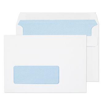 Wallet Self Seal Window White C6 114x162 90gsm Envelopes