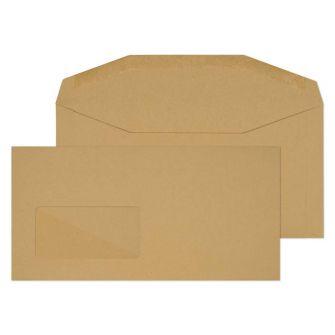 Mailer Gummed Window Manilla DL+ 114x229 80gsm Envelopes
