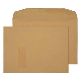 Mailer Gummed Window Manilla C4 229x324 100gsm Envelopes
