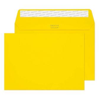 Wallet Peel and Seal Banana Yellow C5 162x229 120gsm Envelopes