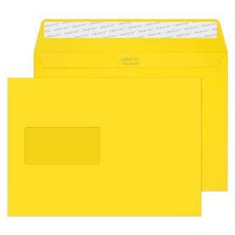 Wallet Peel and Seal Window Banana Yellow C5 162x229 120gsm Envelopes