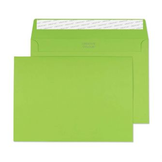 Wallet Peel and Seal Lime Green C5 162x229 120gsm Envelopes