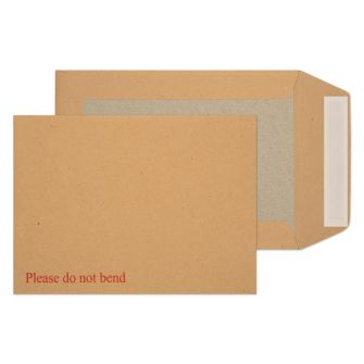 Board Back Pocket Peel and Seal Manilla 190x140 115gsm