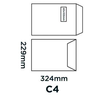 Pocket Peel and Seal Window Cream Wove C4 324x229 120gsm Envelopes