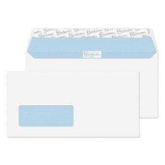 Wallet Peel and Seal Window Ultra White Wove DL+ 114x229 120gsm Envelopes