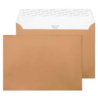 Wallet Peel and Seal Metallic Copper C5 162x229 120gsm Envelopes