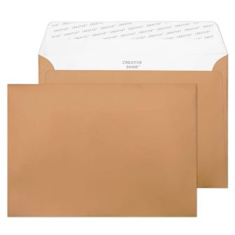 Wallet Peel and Seal Metallic Copper C5 162x229 130gsm Envelopes