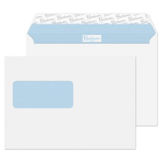 Wallet Peel and Seal Window Ultra White Wove C5 162x229 120gsm Envelopes