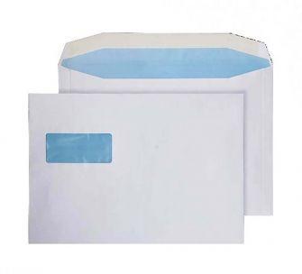 Mailer Gummed Landscape Window White C4 229x324 100gsm Envelopes