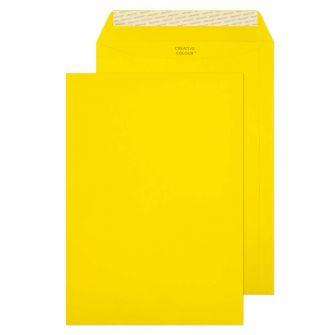 Pocket Peel and Seal Banana Yellow C4 324x229 120gsm Pk10 Envelopes