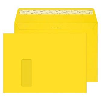 Wallet Peel and Seal Window Banana Yellow C4 229x324 120gsm