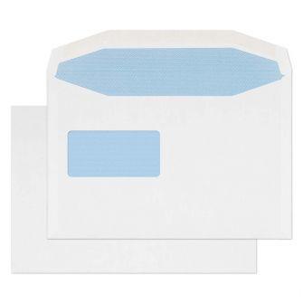 Mailer Gummed Reverse Window White C5+ 162x238 100gsm Envelopes