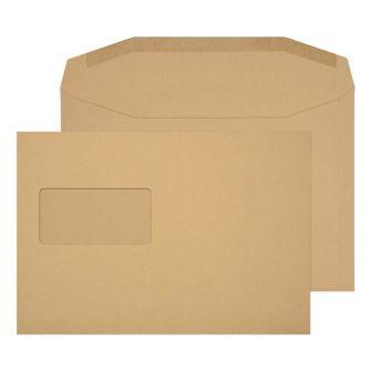 Mailer Gummed High Window Manilla C5+ 162x235 80gsm Envelopes