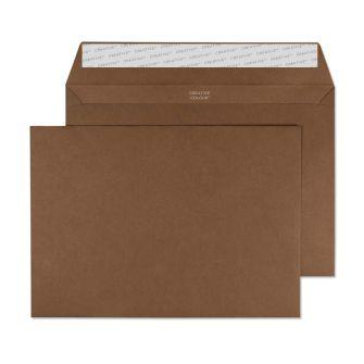 Wallet Peel and Seal Milk Chocolate C5 162x229 120gsm Envelopes