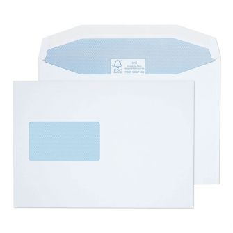 Mailer Gummed CBC Window White C5 162x229 115gsm Envelopes