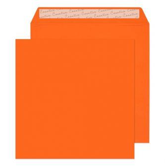 Square Wallet Peel and Seal Pumpkin Orange 220x220 120gsm Envelopes