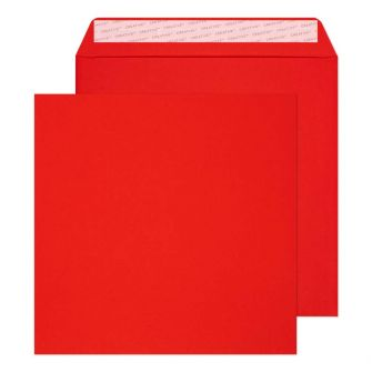 Square Wallet Peel and Seal Pillar Box Red 220x220 120gsm Envelopes